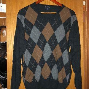 J crew argyle sweater